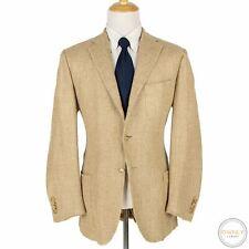 Polo Ralph Lauren Corneliani Beige Silk Basketweave Triple Patch Jacket 44L