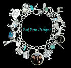 ~TWILIGHT BREAKING DAWN CHARM BRACELET, BELLA,EDWARD,RENESMEE CULLEN,JACOB~