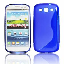Coque Etui silicone gel Lux BLEU Façon S pour Samsung Galaxy i9300 S3