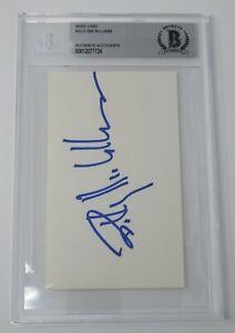 Billy Dee Williams STAR WARS Signed Autograph Auto 3x5 Index Card BAS Slab