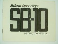 Nikon Speedlight SB-10 Instruction Manual