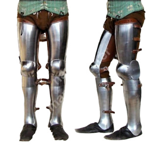 Collectible Medieval Leg Armor Knight Greaves Wearable Fully Functional Armor