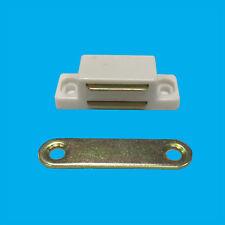 100 x blanco magnético RESISTENTE Trabillas, armario puerta armario, 6kg Pull