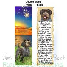 German Wirehaired Pointer Bookmark Dog Rules Property Laws Griffon Book Card