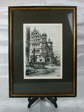 Paul Geissler (1881-1965 German) Original Etching Signed 1919 Rothenberg O.T.