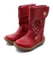 Bluezoo Girls UK Size 5 Red Butterfly Boots
