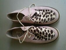 Office Womens Pink Animal Print Suede Shoes Size 4