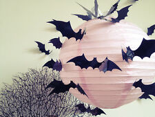 12PC Halloween Decoration DIY 3D Bat Wall Sticker Art Decal PVC Black Home Decor