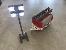Playmobil Fire Trailer & Floodlight Bundle