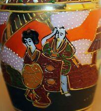 Japanische Satsuma Vase handbemalt japanese chinese signed signiert Meiji China