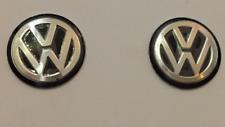 2x VW Schlüssel Key ALU Emblem Logo Aufkleber 14mm hochwertig geprägt schwarz