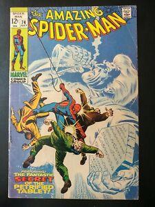 ⭐️ The Amazing SPIDER-MAN #74 (1969 MARVEL Comics) ~ GD Book
