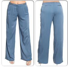 Career wide leg trousers blue size L
