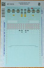 Microscale Decal HO #87-1513 Canadian Pacific (CP) Modern Boxcars