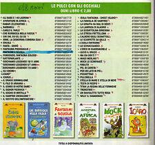 stock 104 libri nuovi la spiga- pulci con gli occhiali bambini 4-6 anni  52 euro
