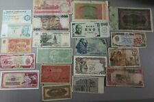 Lot of 20 Assorted Foreign Banknotes World Paper Currency