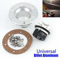 Billet Aluminum Aircraft Style Fuel Cell Gas Cap 6Hole Anodized Flush Mount Sale
