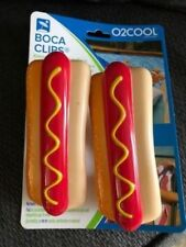 Boca Clips - O2Cool - Keeps Your Towel in Place - Set of 2 - Hot Dogs