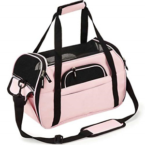 Kaka mall Pet Carrier Waterproof Fabric Padded Soft Sided Airline Approved Mesh