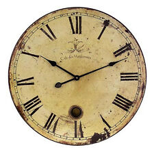 Large Wall Hotel Clock with Pendulum Home Decor Vintage Rustic Look Timepiece