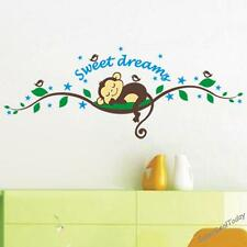 Cheeky Monkey Baby Kid Nursery Room Wall Decals Deco Decor Removable Stickers