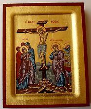 Miniatur Ikone Kreuzigung Jesus crucifixion icon icone crocifissione икона icono