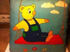 Coussin chambre enfant vintage ours/bateau/lapin/canard
