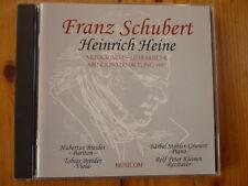 Franz schubert-Heinrich Heine: musicienne-littéraire soir divertissement 1997