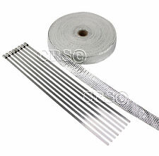 METAL ALUMINIZED FIBERGLASS TUBE HOSE PIPE HEAT WRAP KIT TURBO HEAT SHIELD 50 FT