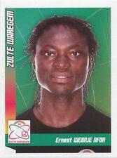 N°447 NFOR WEBNJE # CAMEROON SV.ZULTE WAREGEM STICKER PANINI FOOTBALL 2011