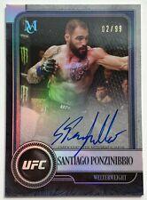2019 Topps UFC Museum 2/99 Santiago Ponzinibbio Autograph Card