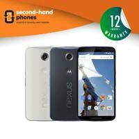 Motorola Nexus 6 (XT1100) 32GB 64GB Cloud White/Midnight Blue Unlocked Android