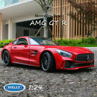 1:24 Welly Scale Mercedes-Benz AMG GT R Red Sports Car Die Cast Model Collection