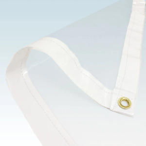 1.8x1.8m Clear PVC Tarpaulin Cover Market Stall Tarp