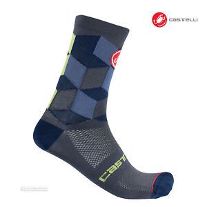 Castelli UNLIMITED 15 Cycling Socks : DARK STEEL BLUE - One Pair