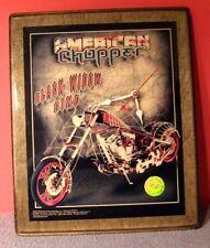2004 American Chopper CLOCK Black Widow Bike Discovery Channel