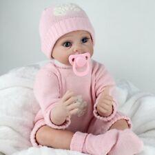 22 inch Reborn Dolls Baby Lifelike Vinyl Silicone Newborn Doll+Clothes Girl Gift