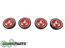 2012-2017 FIAT 500 SCORPION WHEEL CENTER CAPS SET MOPAR GENUINE OEM 4726183AB