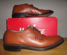 Vintage HANOVER LB SHEPPARD SIGNATURES Brown Leather OXFORDS Shoes w/ Box 10 C/A