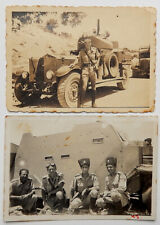 PALESTINE POLICE ARMORED VEHICLES WITH BULLET HOLES TWO PHOTOS LATE 1930'S