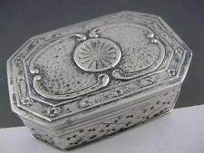 Estate 800 Silver Trinket Box octagon shaped w/ engraved patterns