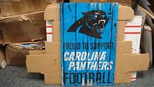 "CAROLINA PANTHERS PROUD TO SUPPORT PANTHERS FOOTBALL WOOD SIGN 11""X17'' WINCRAFT"