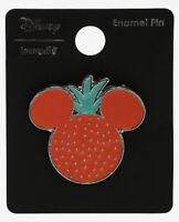 Disney Loungefly Fruit Mickey Mouse Ears Strawberry Silver Tone Metal Enamel Pin
