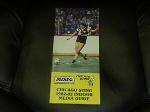 331982-83 CHICAGO STING NASL SOCCER MEDIA PRESS GUIDE.  EX-MINT