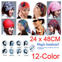 12-Color Magic Head Face Mask Snood Neck Outdoor Wrap Shawl Scarf Buff Headwear