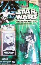 Star Wars Power Of The Jedi Sandtrooper Mint on Card with Jedi Force File