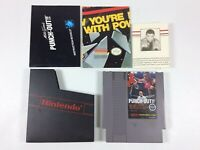 Vintage 1980s Mike Tyson's Punch-Out NES Nintendo With Letter and Manual Poster