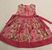 RARE Girl's BABY LULU Red & Pink CHINA ROSE Side Tie FLORAL Dress 4 4T Party