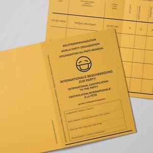 Einladung Einladungskarten als Impfpass für Geburtstag - Hochzeit - Komunion