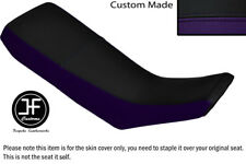 BLACK AND PURPLE VINYL CUSTOM FITS YAMAHA DT 125 R 90-98 DUAL SEAT COVER ONLY